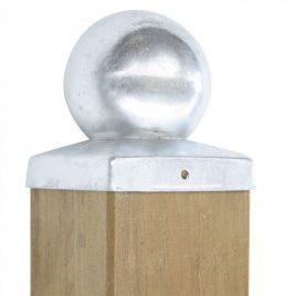 Pfostenabdeckung Vierkant - Kugel, verzinkt