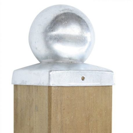 Pfostenabdeckung Vierkant – Kugel, verzinkt 1