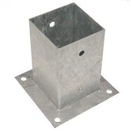 Aufschraubhülse für quadratische und runde Pfosten, verzinkt