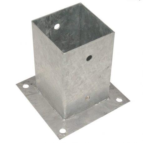 Aufschraubhülse für quadratische und runde Pfosten, verzinkt 1